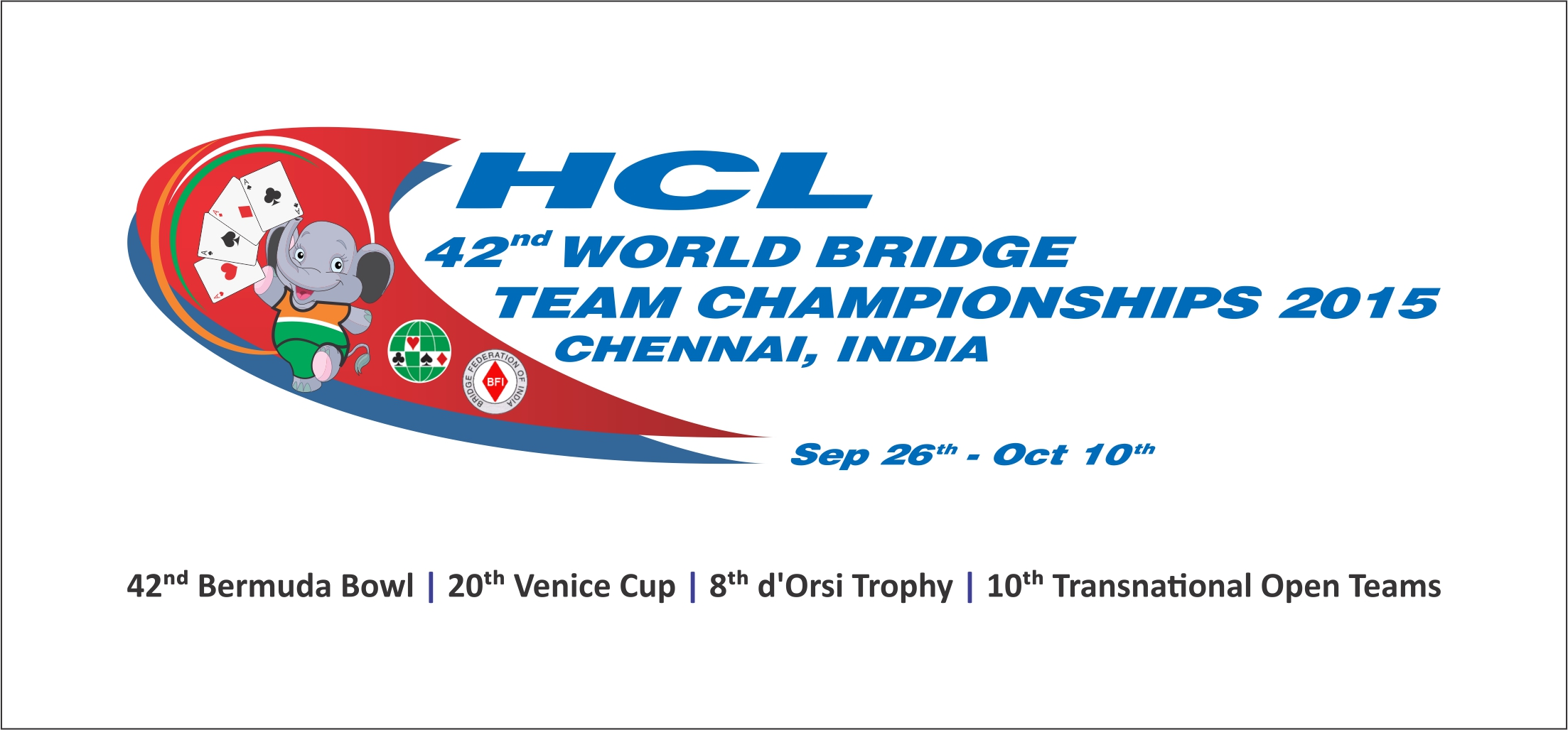 HCL to be Title Sponsor of 42nd World Bridge Teams Championships 2015