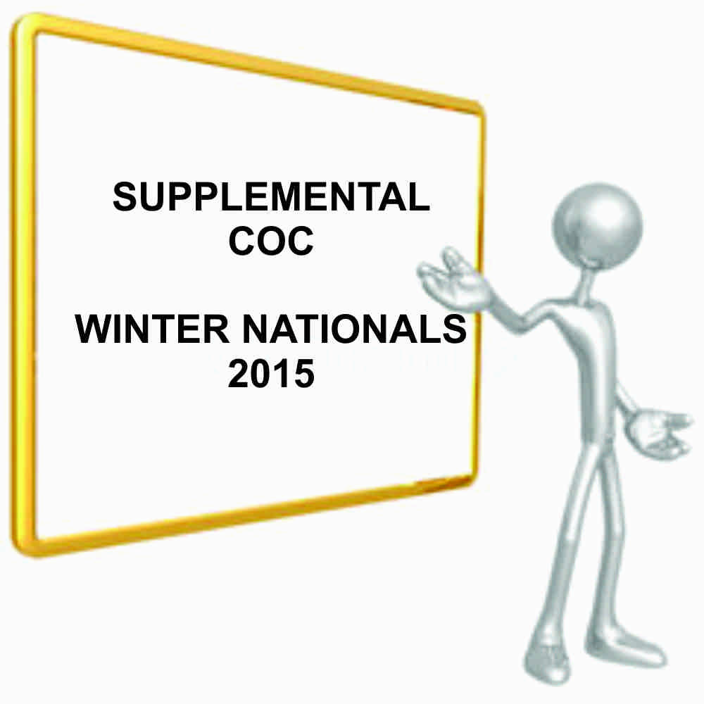 Supplemental COC for Winter Nationals, 2015