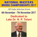 NATIONAL MASTERS 2017 – 4-7th November, Mumbai