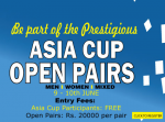 Participate in Asia Cup Pairs event
