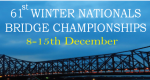 61st Winter Nationals: 8-15th December, Kolkata